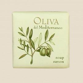 Savon 20 g sous papier de la collection Oliva del Mediterraneo