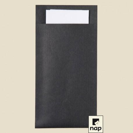 Pochette kraft 10 x 20 cm, serviettes céli-ouate 38 x 38 cm