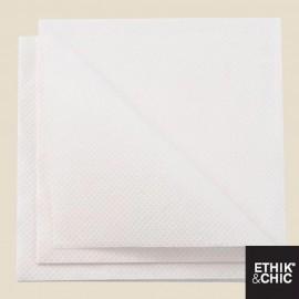 Serviettes cocktail Terralove®, 20 X 20 cm, 2 plis, BLANC