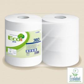 Papier toilette en rouleaux ouate 100% recyclée 380 m