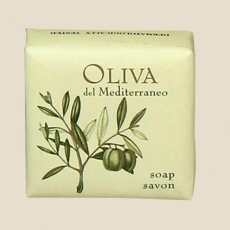 Savon 40 g sous papier de la collection Oliva del Mediterraneo
