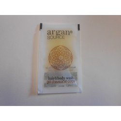 Gels douche 10 ml en sachet de la collection Argan Source