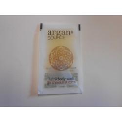 Gels douche 10 ml en sachet de la collection Argan Source