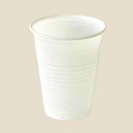 Gobelets blancs en plastique opaque 18/20 cl