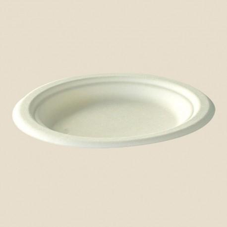 Assiettes rondes à dessert ligne écologique 15,5 cm