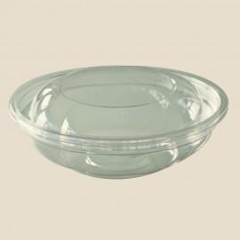 Saladier rond avec couvercle dôme plastique