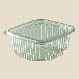 Saladier rond avec couvercle plat plastique 375 cc