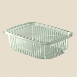 Saladier rond avec couvercle plat plastique 750 cc
