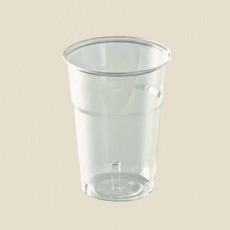 Gobelets cristal en plastique transparent 10 cl