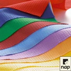 Nappe en papier gauffré, format carré 55 X 55 cm, couleurs VIVES