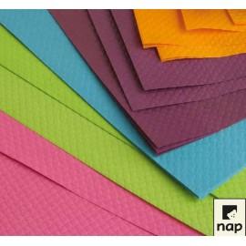 Set de table en papier gauffré, 30 X 40 cm, couleurs VIVES