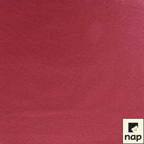 Serviettes papier 30x39 BORDEAUX