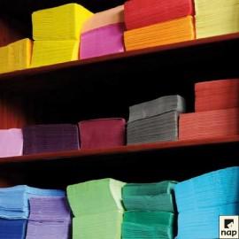 Serviettes grand format ouate carré, 39 X 39 cm 2 plis, couleurs VIVES