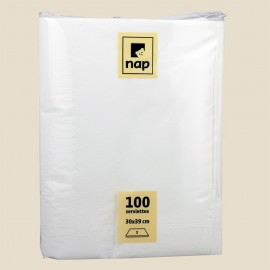 Serviettes papier 30x39 BLANC